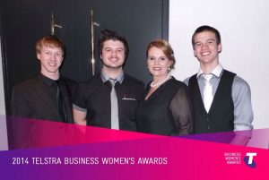 Riana and sons at the 2014 Telstra business women's awards